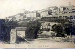 83  SAINT JULIEN  AVENUE DE LA GARE TRAIN CHEMIN DE FER - France