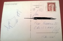 "TIMBRO POSTALE SU CARTOLINA ""MUNCHEN 1972"" - Timbri Generalità"