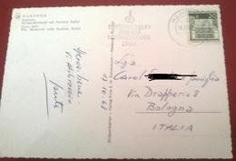 "TIMBRO POSTALE SU CARTOLINA ""INTERNATIONALES JAHR DER MENSCHENRECHTE 1968 GERMANIA"" - Timbri Generalità"