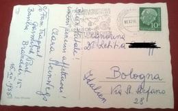 "TIMBRO POSTALE SU CARTOLINA ""FUHRENDER DETUSCH WINTERSPORTPLATZ GARMISCH/PARTEN KIRCHEAD 1956 GERMANIA"" - Timbri Generalità"