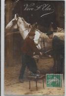 CPA Maréchal Ferrant Métier Ferrage Chevaux Horse Blacksmith Circulé - Craft