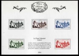"""Bloc-feuillet** De 2016 Avec 5 Timbres Gommés """"Trésors De La Philatélie : LE PONT VALENTRE"""" - Blocks & Kleinbögen"""