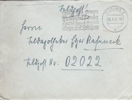 Feldpost WW2: To France - 3. Leichtkranken-Kriegs-Lazarett Kriegs-Lazarett Abteilung 612 FP 02022 P/m Coburg 25.1.1941 - - Militaria