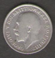 GRAN BRETAGNA 3 PENCE 1918 AG SILVER - 1902-1971 : Monete Post-Vittoriane