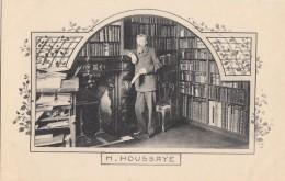 Célébrités -  Henri Houssaye - Journaliste - Historien - Critique Littéraire - Bureau Bibliothèque - Art Nouveau - Ecrivains