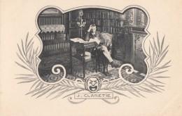 Célébrités - Jules Claretie - Ecrivain Journaliste  - Bureau Bibliothèque - Art Nouveau - Ecrivains