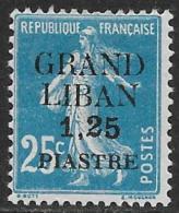 Grand Liban Neufs Avec Charniére, Surchargé No: 6, Coté 6,50 Euros, Y & T, MINT HINGED, SURCHARGED - Grand Liban (1924-1945)