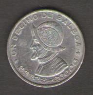 PANAMA UN DECIMO DI BALBOA 1961 AG SILVER - Panama