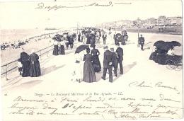 -76- DIEPPE  Le  Boulevard Maritime Et La Rue Aguado Précurseur  Timbré TTB - Dieppe