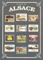 VINS D ALSACE COLLECTION PRIVEE CARTEXPO REPRODUCTION INTERDITE N° 10135 - Advertising