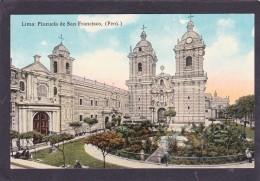 Antique Old Post Card Of Plazuela De San Francisco,Lima,Peru,J45. - Peru