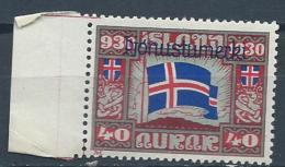 Islande 1930 Service N° 53 Neuf** MNH Millénaire Du Parlement, Cote 24 Euros - Dienstzegels