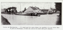 1919 - Iconographie Documentaire - Bourbourg (Nord) - Le Canal -  FRANCO DE PORT - Old Paper
