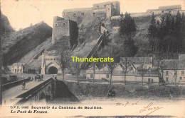 CPA SOUVENIR DU CHATEAU DE BOUILLON LE PONT DE FRANCE - Bouillon