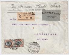 Italien, 1925, MeF 2 Lire, Reco-Eil-Brief!  , #6166 - Storia Postale
