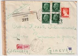 Italia, 1943, Registered, Arrived In 1944! , #6167 - 1900-44 Victor Emmanuel III.