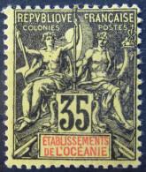 OCEANIE              N° 18            NEUF* - Océanie (Établissement De L') (1892-1958)