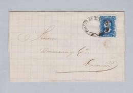 Mexico 1881-03-?? Brief Ohne Inhalt Nach Durango - Mexique
