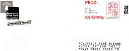 Fondation Abbé PIERRE   16P053 - Postal Stamped Stationery