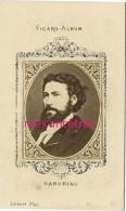 Type CDV -Figaro-Emile GABORIAU écrivain (roman Policier) D'après Liébert  Photographe-format 6,3 X 10,4cm - Famous People