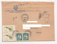 ROUMANIE Bucarest 1965 - Registered Letter Lettre Recommandée N° YT  2054 / T. Faune. / Reptile /  Pyton Molurus. Python - 1948-.... Republics