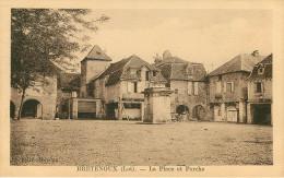 Dép 46 - Bretenoux - La Place Et Porche - Bon état - Bretenoux