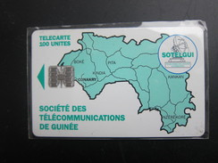 GUI-6a Map Of Guinea, No BN On Backside,used - Guinea