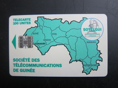 GUI-7 Map Of Guinea,  BN C5A154548 On Backside,used - Guinea