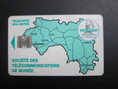 Map Of Guinea,  BN C63157881 On Backside,used - Guinea
