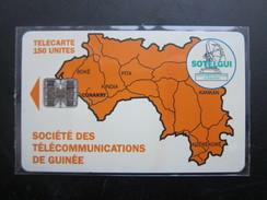 GUI-8 Map Of Guinea,   BN 00436950 On Backside,used - Guinea