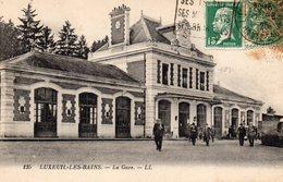 LUXEUIL LES BAINS La Gare 1926 - Luxeuil Les Bains