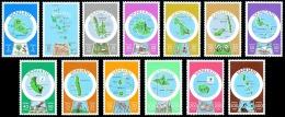 VANUATU 1980 - Yv. 596 à 608 ** TB  Cote= 42,60 EUR - Cartographie Des Iles. Légende Anglaise (13 Val.) ..Réf.AFA22412 - Vanuatu (1980-...)