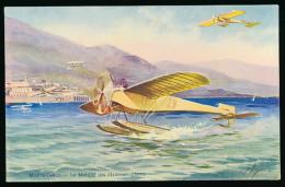 * MONACO, MONTE-CARLO : Le Meeting Des Hydroaéroplanes, 1910, Robaudy, Cannes (non Circulée) - Monte-Carlo