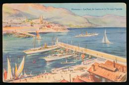 * MONACO, MONTE-CARLO : Le Port, Le Casino Et Le Tir Aux Pigeons, 1910, Robaudy, Cannes (non Circulée) - Monte-Carlo