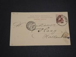 ARGENTINE - Entier Postal De Buenos Aires Pour Les Pays Bas En 1898 - A Voir - L  3328 - Ganzsachen