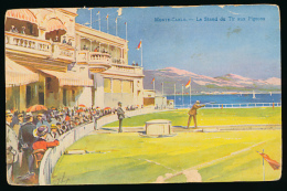 * MONACO, MONTE-CARLO : Le Stand De Tir Aux Pigeons, 1910, Robaudy, Cannes (non Circulée) - Monte-Carlo