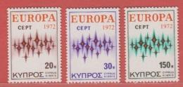 1972 ** (sans Charn., MNH, Postfrish)  Yv  366/8   Mi  374/6 SG 387/9 - Nuovi