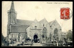 Cpa Du 22  Pluzunet  L' église Et Le Cimetière   JIP9 - Lannion