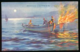 * MONACO, MONTE-CARLO : La Pêche Au Feu, 1910, Robaudy, Cannes (non Circulée) - Monte-Carlo