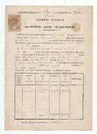 Acte De Vente , Chemins Vicinaux , Commune: CANDE , Arrondissement: SEGRE ,1884 , 2 Scans , Maine Et Loire - 1800 – 1899