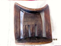 Ethiopia: Headrest /appuie-tête Kambatta - African Art
