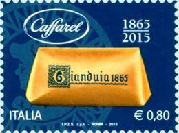 # ITALIA ITALY - 2015 - Caffarel Gianduiotto Food Chocolate - Stamp MNH - 6. 1946-.. Republic