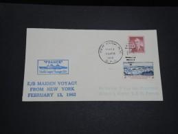 FRANCE / ETATS UNIS - Enveloppe Des Etats Unis Du Paquebot France En 1962 - A Voir - L  3346 - Posta Marittima