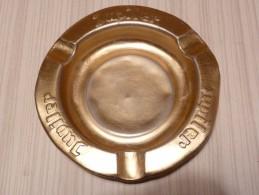 BRASSERIE - CENDRIER  --  JUPILER --    Doré, Rond, Diamètre 12,5 Cm,  Métal - Cendriers