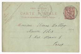 CRETE - 1913 - RARE CARTE ENTIER MOUCHON De CANDIE (IND 18 = 300 EUROS) Pour PARIS - Unclassified