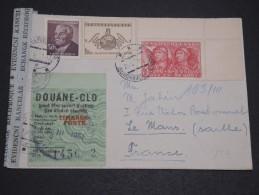 TCHÉCOSLOVAQUIE - Enveloppe Pour La France En 1951 Avec Contrôle Douanier, Affranchissement Plaisant - A Voir - L  3356 - Tschechoslowakei/CSSR