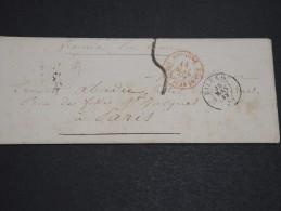 ESPAGNE - Enveloppe De Bilbao Pour La France En 1859 , Cad D 'entrée Par St Jean De Luz - A Voir - L  3361 - Storia Postale
