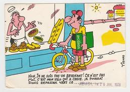94 Charenton VOIR DOS Carte De Commande Ets DEROCHE Avec Dessin Cycliste Boulangerie Humour Illustrateur Tienno En 1976 - Cannes