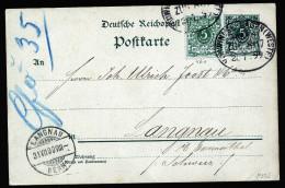 A4272) DR Karte Mit Bahnpoststempel VOHWINKEL-HAGEN ZUG 807 28.7.1899 - Deutschland
