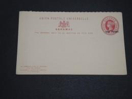 GRANDE BRETAGNE / BAHAMAS - Entier Postal Surchargé Non Voyagé - A Voir - L  3366 - 1859-1963 Crown Colony